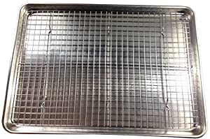 Checkered Chef Stainless Steel Cooling/Baking Rack. Oven Safe. Fits Half Sheet Cookie Pan