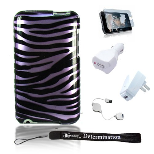 Zebra Snap On Case for Apple iPod touch 8 GB (3rd Generation) NEWEST MODEL +