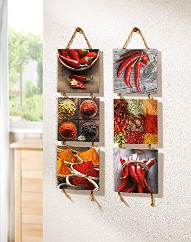 Grande quadro su tela da cucina red chilli wall art - Quadri da cucina moderna ...