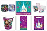Disney Frozen Party Supply Pack For 8 Guests which Includes Invitations, Plates, Napkins, Cups, Table Cover, Favor/Treat Bags and Thank You Postcards