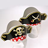Dozen Pirate Captain Cardboard Party Hats