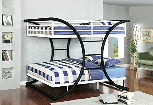 Black Metal Bunk Beds 8215 front