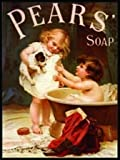 FRENCH VINTAGE METAL SIGN 20x15cm RETRO AD PEARS SOAP 2