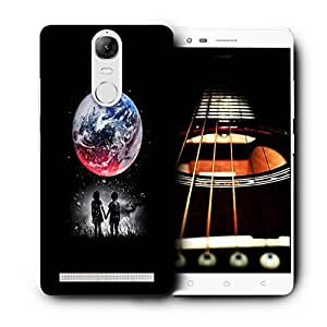 Snoogg Kids Watching The Moon Designer Protective Back Case Cover For LENOVO K5 VIBE