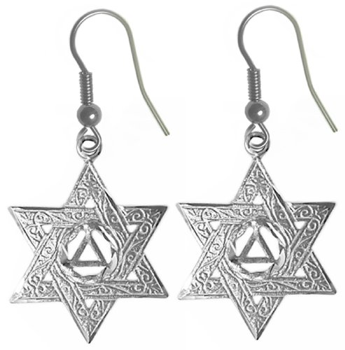 Alcoholics Anonymous Symbol Earrings #716-6, 3/4