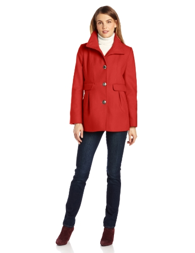 Kenneth Cole New York Women's Princess Seamed Coat, Russet, 8