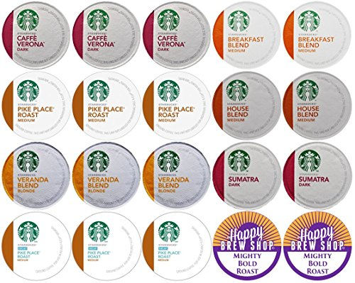 20-Count Starbucks Coffee K-Cup Variety Sampler Pack, Single-Serve Cups For Keurig Brewers