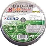 ZERO DVD-RW 2倍速・10枚・CPRM対応 【ZERW47-2X10PW】