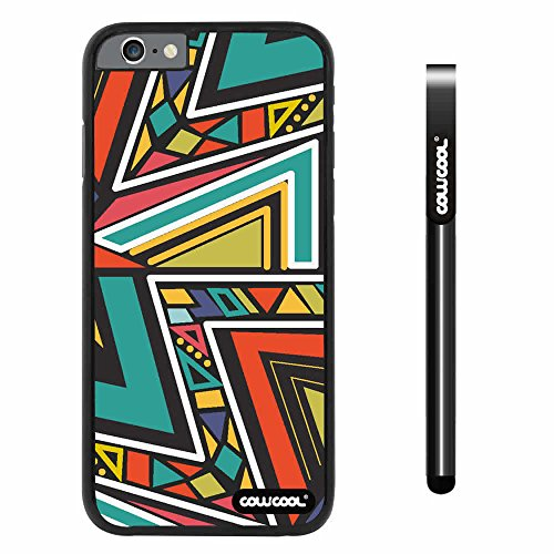 Cowcool® Apple Iphone 6 4.7 Inch Case Hard Pc Colorful Bohemian Triangle Totem Black Shell Single Layer Protective Case (#5)