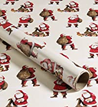 4m Father Christmas Wrapping Paper