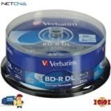 BD-R Blu-ray DL 50GB 6x With Branded Surface Disc Spindle Pack Of 25 And Free 6 Feet Netcna HDMI Cable - By NETCNA