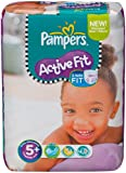 Pampers Active Fit Size 5+ (Junior+) Monthly Pack--124 Nappies