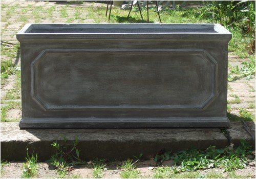 Faux Lead Fibreclay Chelsea Trough/Planter, 80cm