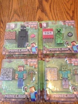 Minecraft Steve Zombie Creeper Enderman Set Of 4 Figures from MJ