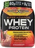 Body Fortress Super Advanced Whey Protein Powder, Strawberry, 2 Pound
