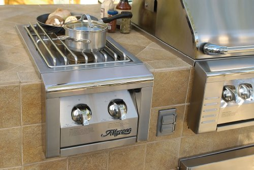 Alfresco Dual Side Burner For BuiltIn Grills Agsb2C, Natural Gas