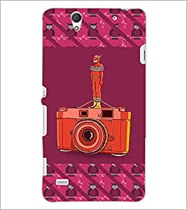 PrintDhaba camera D-5771 Back Case Cover for SONY XPERIA C4 (Multi-Coloured)