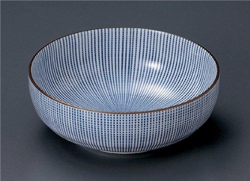 Sendan-Togusa Jiki Japanese Porcelain Ramen-Bowl For Pasta Or Udon,Soba Or Salad Made In Japan