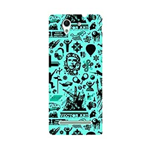 Skintice Designer Back Cover with direct 3D sublimation printing for Sony Xperia C3 Dual