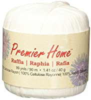 Premier Yarns Raffia Solids Yarn, White