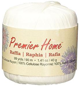 Premier Yarns Raffia Solids Yarn, White