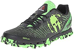 Reebok Men\'s All Terrain Extreme WC Trail Running Shoe, Gravel/Black/Solar Green, 12 M US