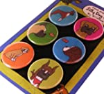 Boxer Silly Dog Magnet Set of 6