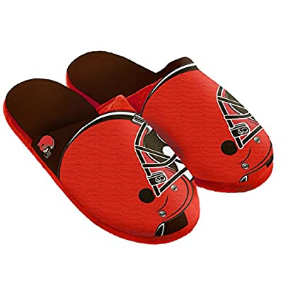NFL Cleveland Browns Split Color Slide Slipper, X-Large, Orange