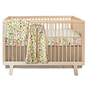 Skip Hop 4 Piece Bumper free Crib Bedding Set, Treetop Friends