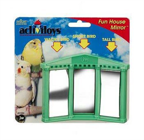 JW Pet Company Activitoys Fun House Mirror Bird To