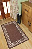Non Slip Brown Machine Washable Practical Entrance Runner Rugs Estelle - 4 sizes available