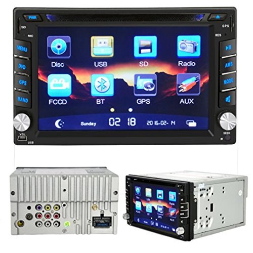 lacaca-157-cm-HD-Touchscreen-Doppel-DIN-IN-DASH-CAR-STEREO-MP5-DVD-Player-untersttzt-GPS-Navigation-USBSDAUXFM-Bluetooth-Freisprecheinrichtung-Call-Fernbedienung-mit-Kamera-Mikrofon-Touch-Pen