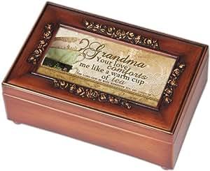 cottage garden grandma woodgrain petite rose music box jewelry box plays amazing. Black Bedroom Furniture Sets. Home Design Ideas