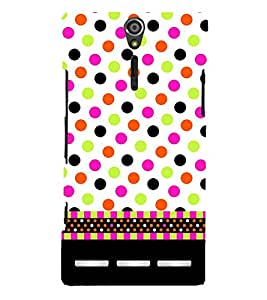 Wall Art Fashion Dots Girly Cute Fashion 3D Hard Polycarbonate Designer Back Case Cover for Sony Xperia SL :: Sony Xperia S :: Sony Xperia SL LT26I LT26ii