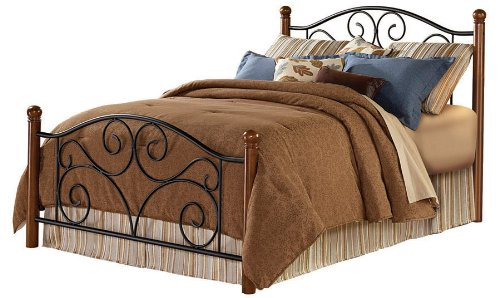 Lowest Price! Fashion Bed Group Doral Queen Size Bed in Matte Black/Walnut Finish