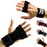 Gloves with Wrist Support for Gym Workout, Weightlifting, Cross Training and Fitness, Extra Padding to avoid Calluses, Suits both Men and Women, Mava Sports Premium Quality Equipment (Black,M)