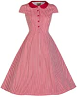 Lindy Bop 'Wendy' Millésime 1950's Bonbons Bande Peter Pan Collier Chemise Robe
