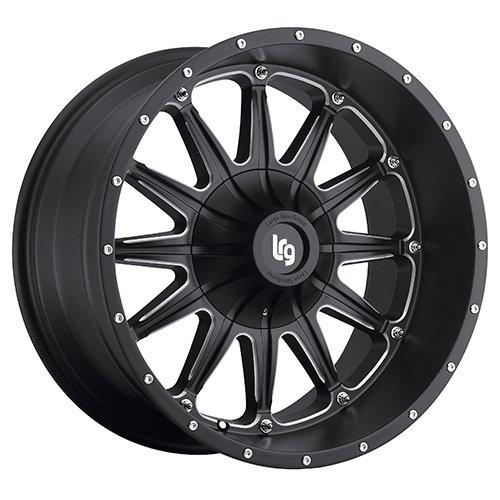 LRG Rims LRG103 Sandman Black Wheel with Milled Accents (17x9