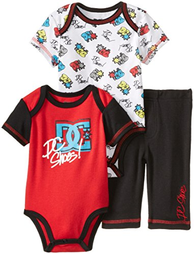 DC Shoes Co Baby-Boys Newborn Red Printed Body with Pant