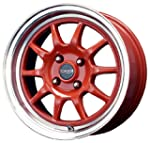 "Drag DR-16 Red Machined Wheel (15x7""/..."