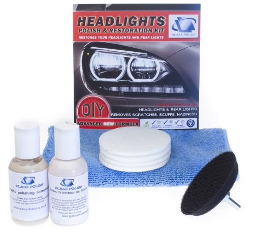 Headlight & Tail Light Restoration kit - To restore haziness, Dull/ Faded/ Discoloured Headlights