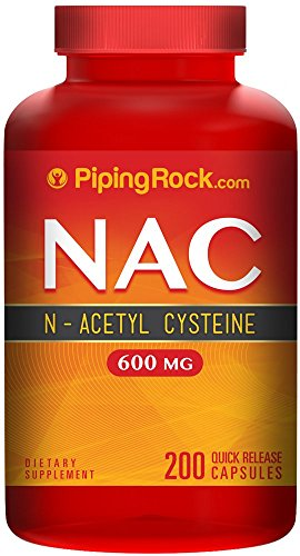 N-Acetyl Cysteine 600 mg (NAC) 200 Capsules (N Acetyl Cysteine 1000 compare prices)
