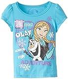 Disney Little Girls Olaf and Anna Short-Sleeve Shirt