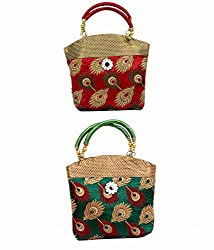 Kuber Industries Women's Handbag (Multicolor,Fhb107(Pack Of 2))