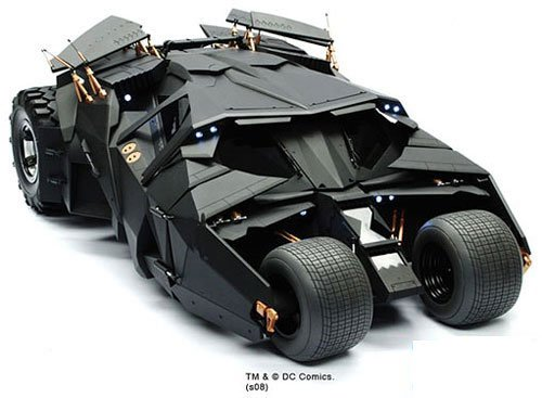 Batmobile Dark Knight Hot Toys Toys' The Dark Knight 1:6