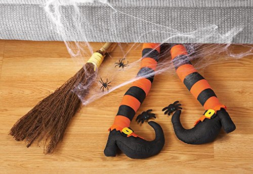 Pair Of Halloween Posable Witch's Legs Decoration