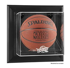 Cleveland Cavaliers Framed Wall Mounted Logo Basketball Display Case by Mounted Memories