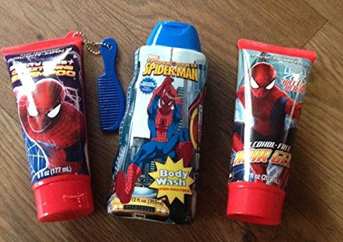 Spider-Man Spiderman 3 Pc Bath Set Shampoo Body Wash Hair Gel - 1