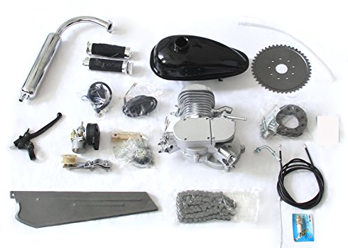 80cc Bike Bicycle Motorized 2-Stroke Cycle Gas Motor Silver Engine Kit Set (Motor Bicycle Kit compare prices)