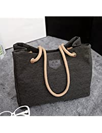Summer 2016 Canvas Simple Women Handbag Big Beach Shopping Bag Ladies Black Fashion Woman Casual Handbags Shoulder...